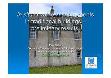 Thermal Performance of Traditional Masonry Walls - Historic Scotland
