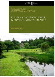 Mavisbank Policies Landscape Management Plan - Historic Scotland