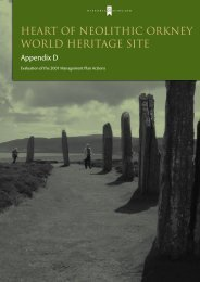 Appendix D – Evaluation of the 2001 ... - Historic Scotland