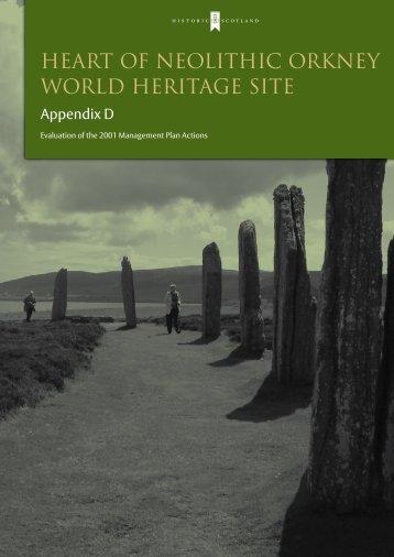 Appendix D – Evaluation of the 2001 ... - Historic Scotland