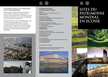 SITES DU PATRIMOINE MONDIAL EN ECOSSE - Historic Scotland