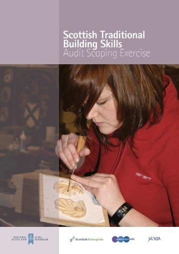 Scottish Traditional Building Skills Audit Scoping ... - Historic Scotland