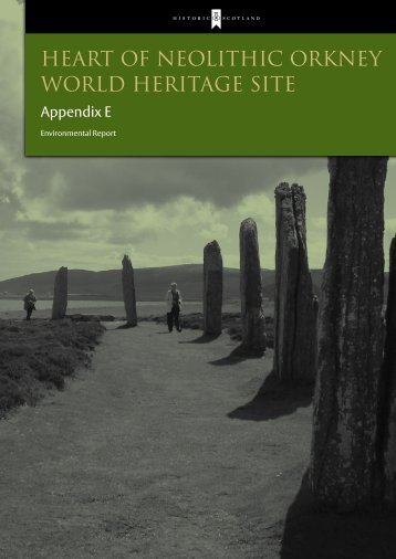 Appendix E – part 1 – Environmental Report - Historic Scotland