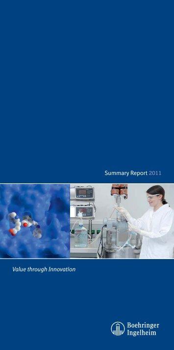 Summery Report 2011 Boehringer Ingelheim