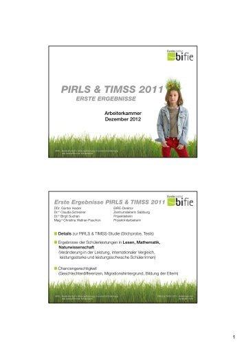 PIRLS & TIMSS 2011 - Bifie