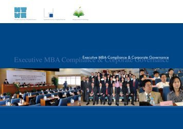 Executive MBA Compliance & Corporate Governance