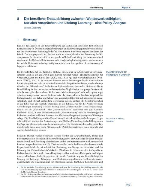 Bildungsbericht 2012