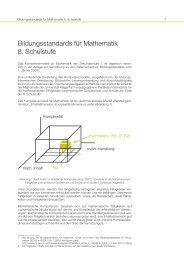 Bildungsstandards für Mathematik 8. Schulstufe - Bifie