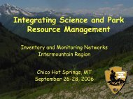 Integrating Science and Park Resource Management - Greater ...