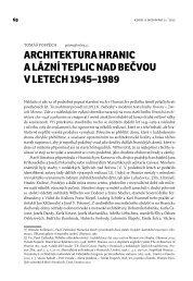 Datování architektury hlavní