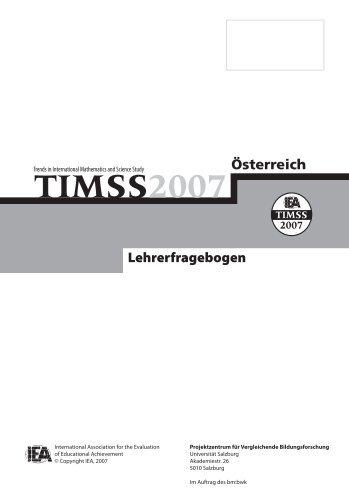TIMSS 2007 Lehrerfragebogen - Bifie
