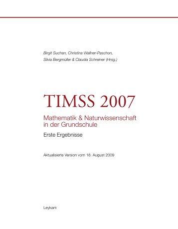 TIMSS 2007: Erste Ergebnisse - Bifie