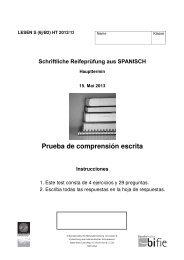 Prueba de comprensión escrita Instrucciones - Bifie