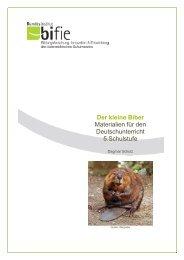 Der kleine Biber Materialien für den Deutschunterricht 5 ... - Bifie