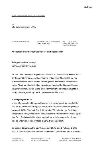 KMS Geschichte + Sozialkunde - Historisches Forum Bayern