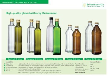 High quality glass-bottles by Brökelmann - Brökelmann + Co