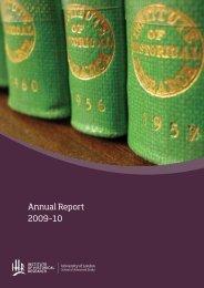 IHR annual report 2009-10 - Institute of Historical Research