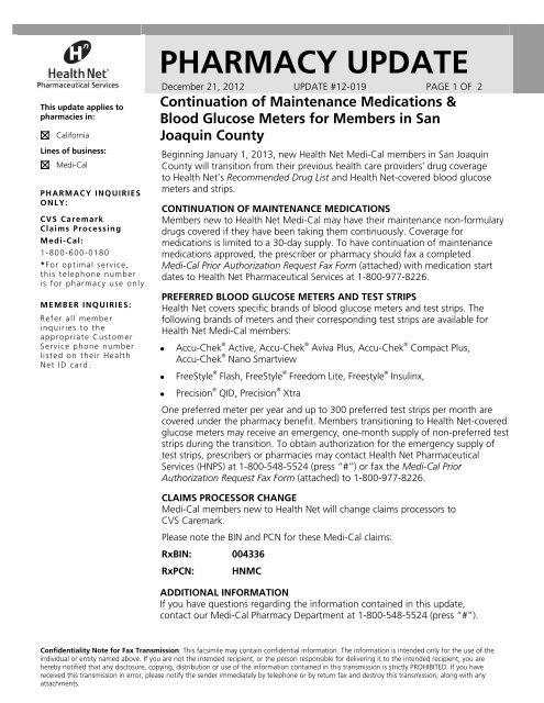 New San Joaquin County Medi Cal Member Transition Health Net