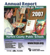 2006-07 Annual Report - Harford County Public Schools