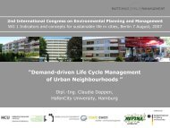 Life Cycles of Urban Neighbourhoods - HafenCity Universität ...