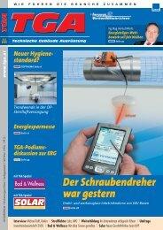 01 Cover TGA 1-2/05 - G & P AIR SYSTEMS VertriebsgmbH
