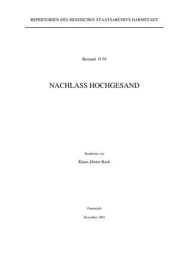 O 59 Hochgesand - Hessen