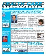 September 19, 2011 Issue - Health Care Weekly Review