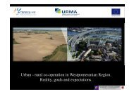Urban - rural co-operation in Westpomeranian Region. Reality ...