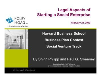 Social Business Plan for Social Entrepreneurs