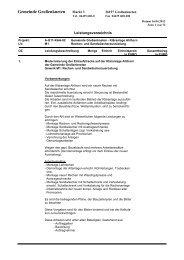 Leistungsverzeichnis zu Gewerk M1 - Gemeinde Großenkneten