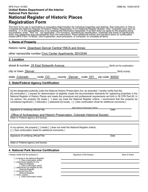 Full nomination (PDF, 552 kb) - History Colorado