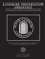 Denver Landmark Preservation Ordinance - History Colorado
