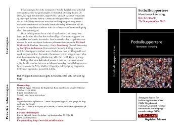 Fotballsupportere - Identiteter i endring (PDF, 79,27 kB)