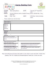Course Booking Form - Children's Centres