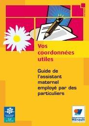 Vos coordonnées utiles - Conseil Général de l'Hérault