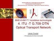 OTN (ITU-T G.709) - BME Hálózati Rendszerek és Szolgáltatások ...
