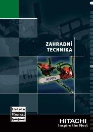ZAHRADNÍ TECHNIKA - Hitachi