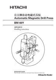日立牌自动电磁式压钻Automatic Magnetic Drill Press BM 60Y