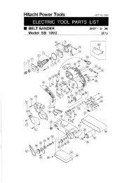 HITACHI 325-085 SWITCH E 1P SCREW TYPE W//LOCK FOR JIG SAW