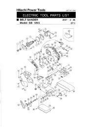 SB10V2 Exploded Diagram and Parts Listing - Hitachi