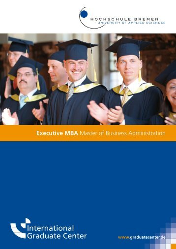 Executive MBA Master of Business Administration - International ...
