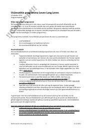 Visienotitie programma Leven Lang Leren - Groen Kennisnet