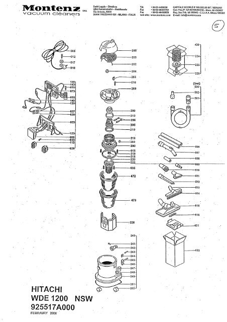 Wde1200 Exploded Diagram And Parts Listing