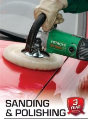 to view Hitachi's Polishing & Sanding Catalogue