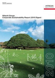 Hitachi Group Corporate Sustainability Report 2010 Digest