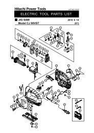 CJ90VST Exploded Diagram and Parts Listing - Hitachi