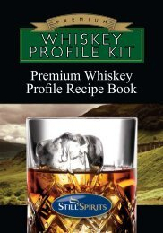Whiskey Profile Kit Recipe Book - The Home Brew Shop