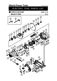 C6SS Exploded Diagram and Parts Listing - Hitachi