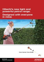 Hitachi's new light and powerful petrol range. Designed with ...