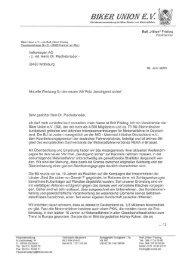Schreiben BU an VW - der Biker Union eV